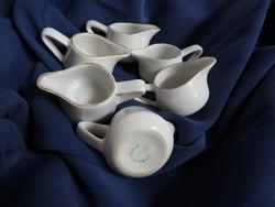 Hollóházi kávétejszín kiöntők - 6 darab