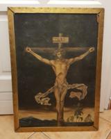 49x70, rézkeretben, Dürer témára modern festmény, MDF lap, olaj