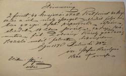 Eger 1870 kölcsön 2 forint 40 krajcár.