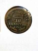 F. J. 10.krajcár.1870.kb.unc.