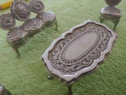 4 darabos filigrán ezüst miniatür bútor garnitúra   80 gramm  ! ! !