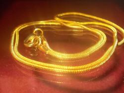 Tömör - Erős Kígyó mint. 925 ezüst -  Arany Uniszex Nyaklánc