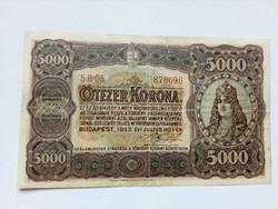 1923 5000 Korona, Magyar Pénzjegynyomda Rt.