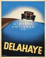 Art deco Delahaye automobil hirdetés, Cassandre. Vintage/antik reklám plakát reprint