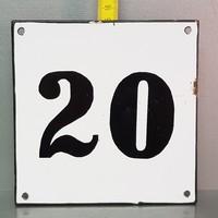 """""""20"""" házszám zománctábla (953)"""