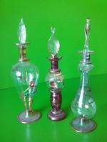 Impozáns vékony üvegből kézműves parfümös üveg üvegek 3 darab darabáron