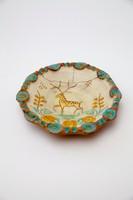 Gorka Géza szarvasos tányér 15 cm, sérült