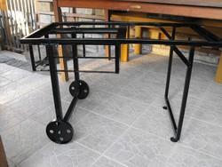 Retro Loft Ipari vas kerék gurulós asztal váz industrial grill kocsi nak is vintage