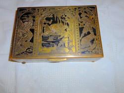 Niellos asztali réz ládika 1928 évi bejegyzéssel