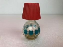 Lámpa alakú utánatölthető pöttyös kölnisüveg az 1950 -es évekből /E007/