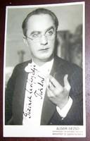 Dedikált Uray Tivadar fotó - képeslap méret