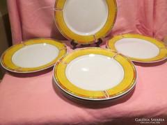 6 db Luciánó sárga szélü lapos tányér A026