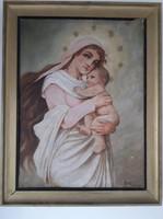 Adömel: Madonna Jézussal festmény