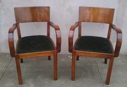Kuriózum! Különleges Art deco 2db karfás szék.Párban Kozma Lajos Cca 1920.