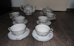 Régi Zsolnay porcelán teás készlet