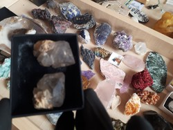 Csodálatos természetes  herkimer gyémant pár