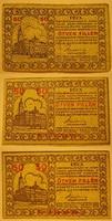 3x50 Fillér Pécs Városi szükségpénz   1919  I.-II.-III kiadás .