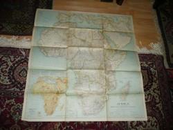 Antik nagy méretű AFRIKA  térkép 1935 - NG Washington  Mérete: 79*74 cm