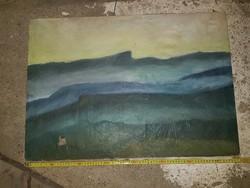 Tenger, olaj, vászon, kis lyukkal, kb.50x78
