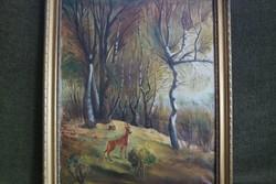 Klie Zoltán (1897-1992) - Bakonyi erdőrészlet - aukcionált