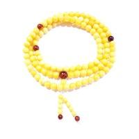 Borostyán mala 108 darab gyöngyből sárga opak