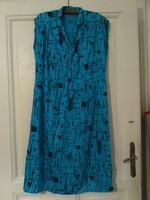 Absztrakt mintás Vintage/retró női vászon ruha