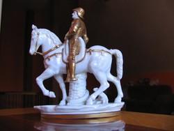 A. Verrocchio: B. Colleoni lovasszobra (régi Scheibe-Alsbach porcelán)