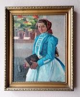 Szász István (1878-1965) Eredeti Festmény Garanciával