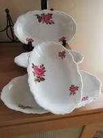 Rózsás német ovális tányérok,kínálók