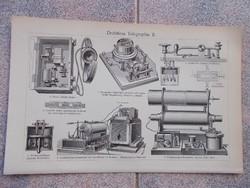 Litografie Meyers,1904, Instruments telegraphie