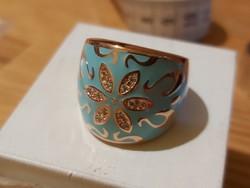 Zománcos cezüst gyűrű  új