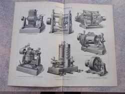 Litografie Meyers,1904, Elektrische Machinen