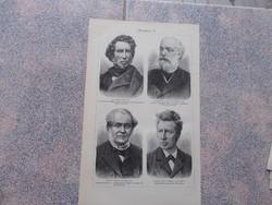 Litografie Meyers,1904, Chemiker