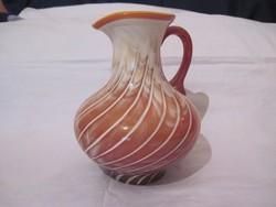 Üveg kancsó rétegelt üveg 22cm dísz kancsó váza opál üveg