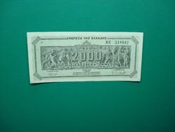 Görögország 2000 millió  drachma 1944 aUNC