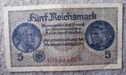 III.Birodalom 5 márka bankjegy