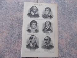 Litografie Meyers,1904, Klassiker der Weltliteratur