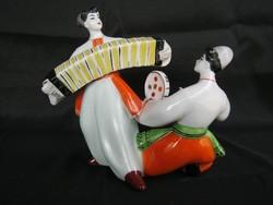 Orosz porcelán zenélő táncoló fiúk
