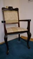 Karfás szék, fotel gyönyörű, impozáns méretben
