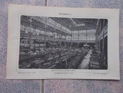 Litografie Meyers,1904, Markthallen