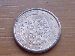 SPANYOL 2 EURO CENT 2000