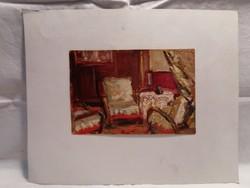 Kóbor Jenő szobabelső festmény