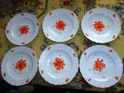6 db HERENDI  tányér    ( 2000 Ft/ db) 18,5 cm