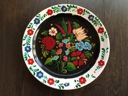 Gránit gyönyörű kézzel festett tányér paprikás falitányér