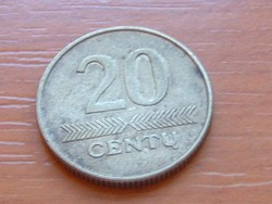 LITVÁNIA 20 CENTU 2008