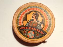 Retro sajtos doboz Melinda Derby régi csomagolás