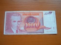 JUGOSZLÁVIA 1000 DINÁR 1992 AB, NIKOLA TESLA