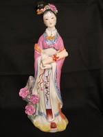 Nagy méretű porcelán Kuan Yin istennő
