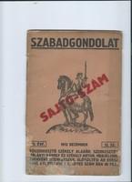 Szabadgondolat - Sajtószám 1913 december