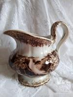 Antik transferware Bryonia Amberg fajansz nagy tejkiöntő